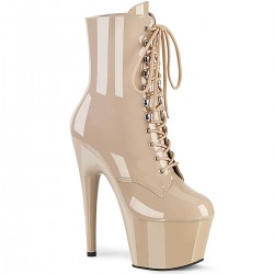 Adore Nude Patent Platform Granny Ankle Boot