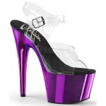 Purple Chrome Platform Clear Strap Platform Sandal at CrossDress Fashions,  Womens Clothing for Crossdressers, TG, Female Impersonators