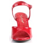 Red Belle 3 Inch Heel Sandal at CrossDress Fashions,  Womens Clothing for Crossdressers, TG, Female Impersonators