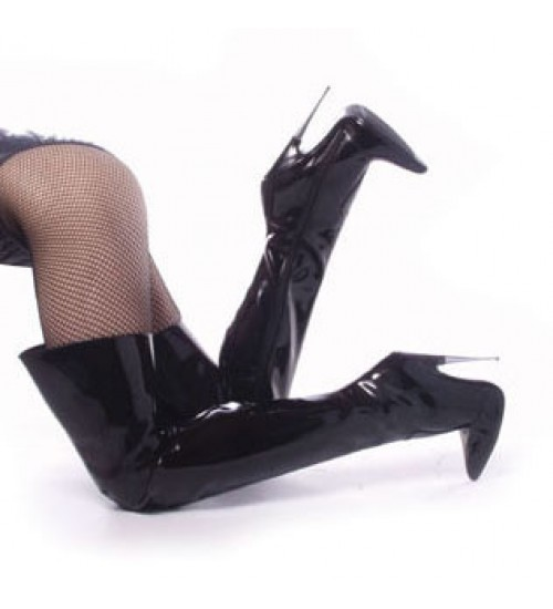 Thigh High Scream Fetish Boots with 6 Inch Heel at CrossDress Fashions,  Womens Clothing for Crossdressers, TG, Female Impersonators
