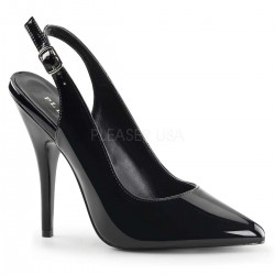 Black Seduce Slingback Pump CrossDress Fashions  Womens Clothing for Crossdressers, TG, Female Impersonators