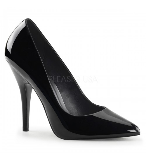 Black 5 Inch Heel Seduce Stiletto Pump at CrossDress Fashions,  Womens Clothing for Crossdressers, TG, Female Impersonators