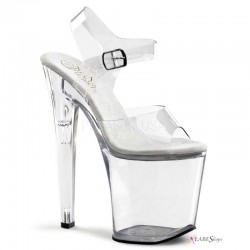 Clear Xtreme 8 Inch High Platform Sandal CrossDress Fashions  Womens Clothing for Crossdressers, TG, Female Impersonators