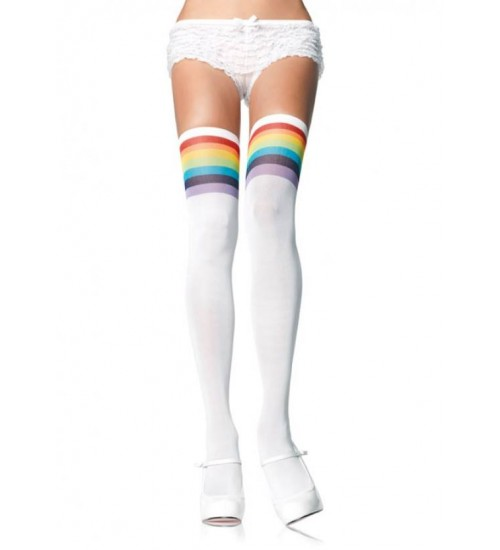 Over the Rainbow Thigh High Stockings at CrossDress Fashions,  Womens Clothing for Crossdressers, TG, Female Impersonators